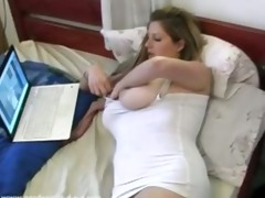 super titty playgirl rubbing muff