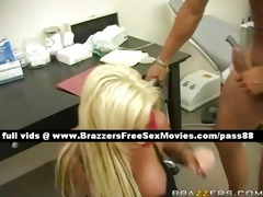 amazing blond doxy at wotk acquires her soaked