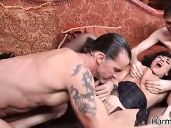 the lucious anissa enjoys a three-some fuck