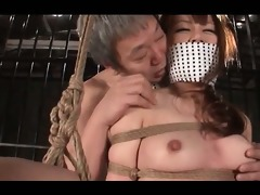 curvy jap milf in ropes submitted to hardcore