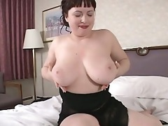 hawt brunette hair mother i show us her large tits