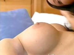 bikini brunette hair pleasures breasty
