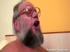 favourable old bastard bangs pleasant gal