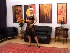golden-haired aged having pussy fisted hard